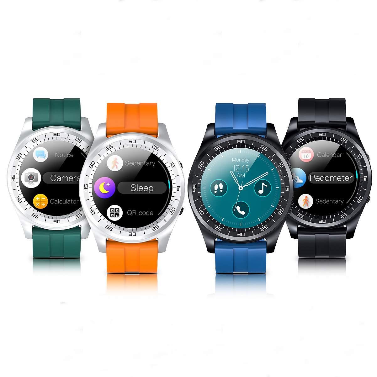 Reloj inteligente con pantalla táctil Bakeey T20 de 1,3 pulgadas, micro-SIM de llamada bluetooth, tarjeta TF, cámara de música, Control de teléfono