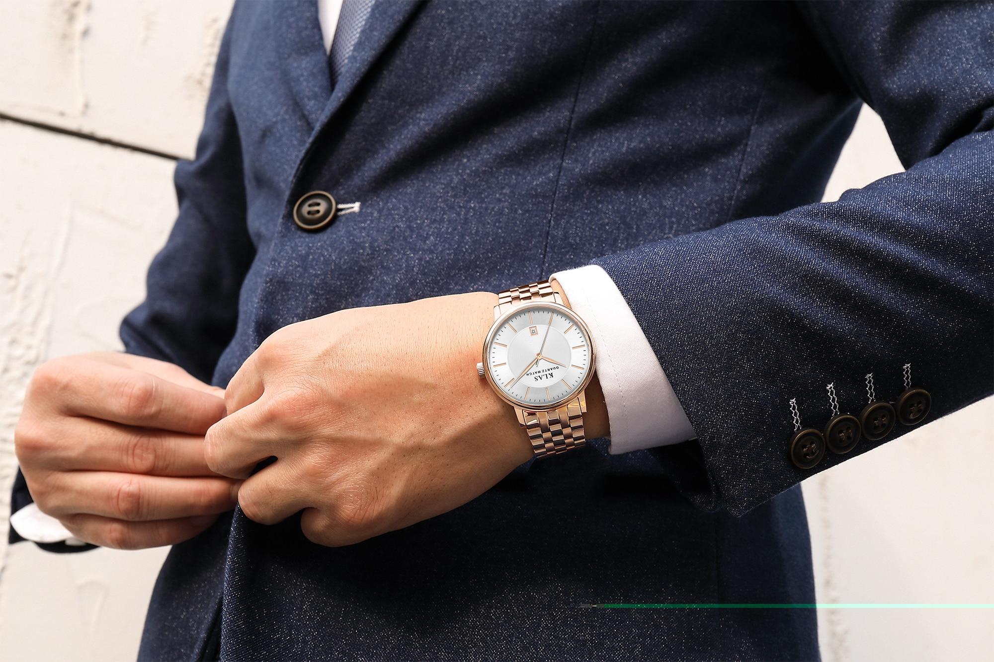 Male leisure Waterproof Watches 2021  KLAS Brand enlarge