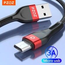 Cavo Micro USB PZOZ cavo Microusb 3A a ricarica rapida per Samsung S7 Xiaomi Redmi Note 5 Pro cavo telefonico Android caricabatterie Micro usb