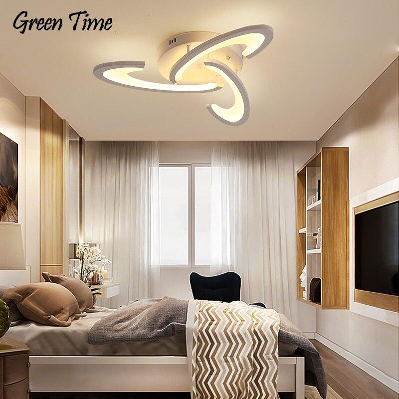 Черно-белый современный светодиодный потолочный светильник с регулируемой яркостью для гостиной, спальни, столовой, домашний декоративный...
