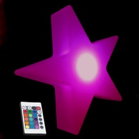 L20*W20*H6cm Popular Colorful Led Christmas Decoration Five Star LED Twinkle Light LED Wedding Night Light free shipping 4pc/lot