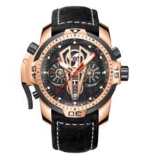 Récif tigre/RT marque de luxe automatique mécanique montres homme cuir étanche hommes or Rose saphir Relogio Masculin RGA3591
