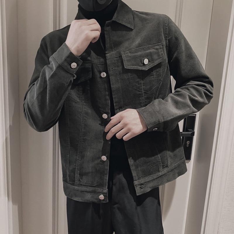 2021 Brand clothing Mens High Quality corduroy Casual jacket/Male slim fit Fashion coat Plus size S-3XL