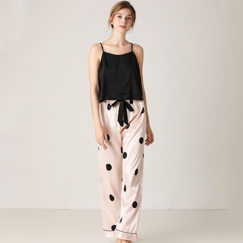 Женская пижама MUMU из 2 предметов для домашнего использования, пикантная кофта и брюки, комплект для домашнего использования, топы для сна, пи...