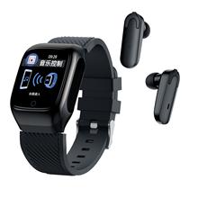 S300 ساعة ذكية الرجال سماعات مع سماعات بلوتوث الموسيقى الرياضة لممارسة تشغيل اثنين في واحد لنظام أندرويد iOS تشغيل الموسيقى الموضة