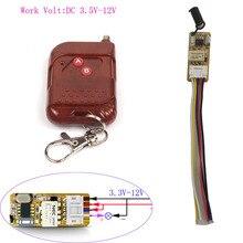 Module de Micro-interrupteur à télécommande 3 fils 3.5V-12V interrupteurs dalimentation 3.7V 5V 9V 12V Mini relais sans fil 315/433MHz