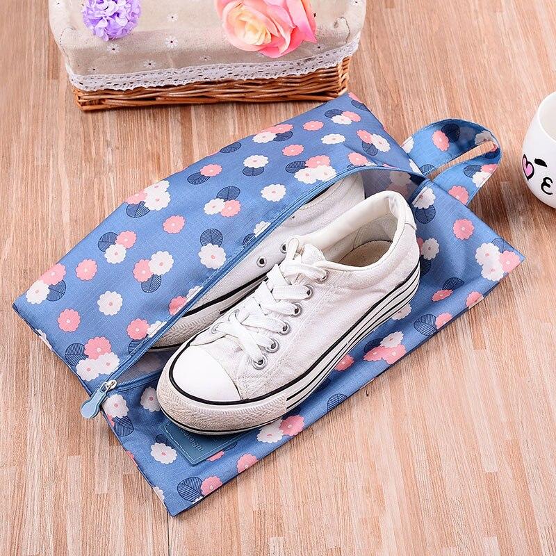 Bolsa de viaje portátil impermeable, bolsa de almacenamiento de nailon, organizador de almacenamiento práctico, organizador de zapatos, clasificación, bolsa con cremallera, 6 patrones