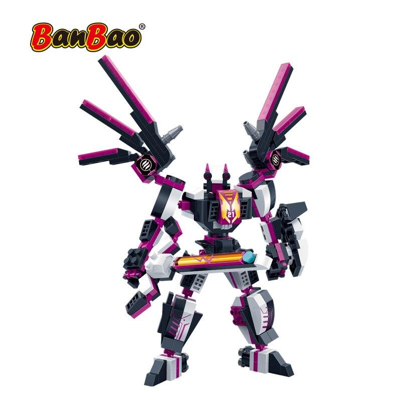 Robot espacial BanBao 2 en 1, bloques de construcción con transformador, modelo de Ladrillos educativos creativo, juguetes para niños, regalo 6321