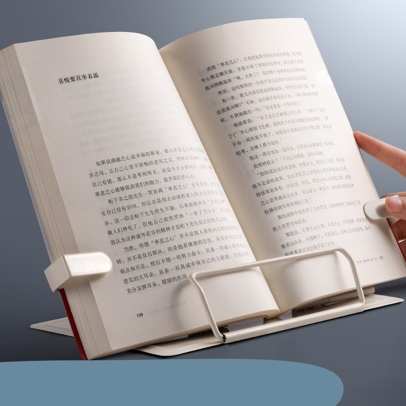 2021 Adjustable Portable Metal Adjustable Reading Book Holder Support Document Shelf Bookstand Table