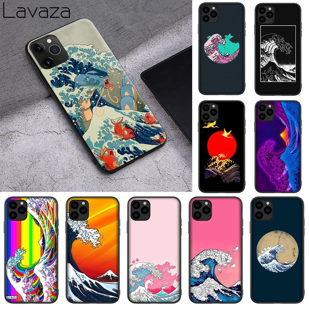 WEBBEDEPP arte de Ola Verde japonés Illust suave de TPU caso para iPhone 11 Pro XS MAX XR 8X8 7 6s 6 5 5s Plus