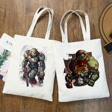 Shooting Game Doom Eternal  Print Shopping Bags Girls Fashion  Hip Hop Hipster Casual Pacakge Hand Bag