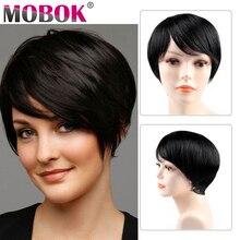 Human Hair Wigs Short Bob Pixie Cut Brazilian Straight Wigs Cheap Remy Short Human Hair Wigs For Black Women Free to Brazil