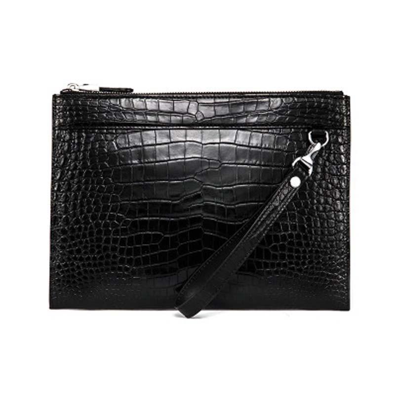 yuee male Hand bag crocodile bag men envelope bag  large capacity men wallet business crocodile multi-function men clutch bag