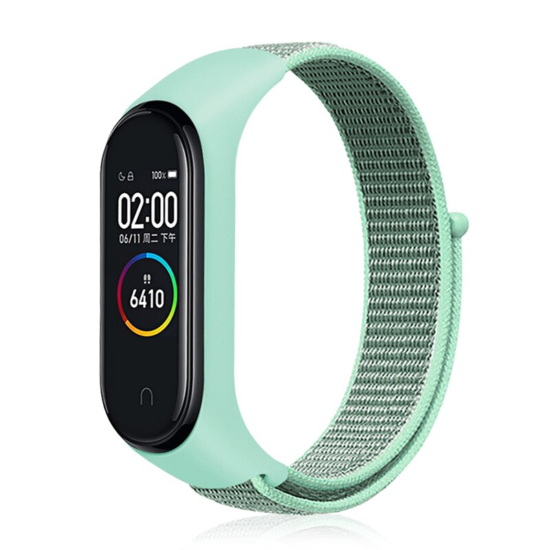 Suave de Nylon transpirable Correa deporte bucle para Xiaomi Mi banda 4 3 pulsera reloj correa para Xiaomi Mi Band 4 Band3 NFC