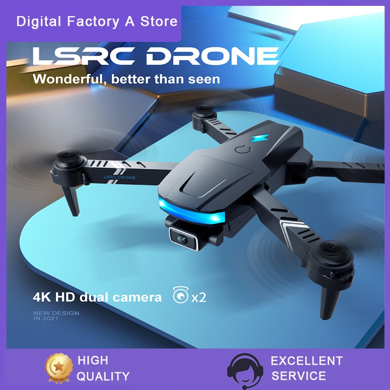 LSRC  LS-878  WiFi FPV with 4KHD Dual Camera Altitude Hold Mode Foldable RC Drone Quadcopter RTF