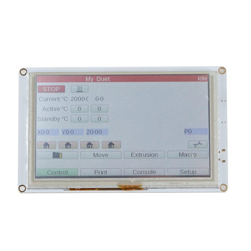 PanelDue 5i-وحدة تحكم في شاشة اللمس الملونة ، 5 بوصة ، Clone ، DuetWifi ، Duet 2 Ethernet ، أجزاء الطابعة ثلاثية الأبعاد