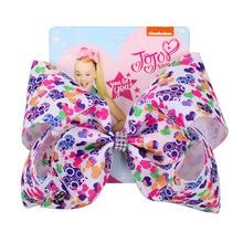 "7"" Girls Jojo Siwa Hair Bows Hair Clips for Children Kids Valentine's Day Hair Bows with Rhinestone Hairgrip Hair Accessories"