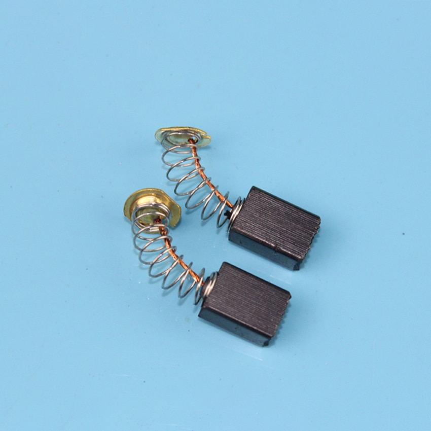 Moedor de ângulo com escova de carbono, 1 par de acessórios para ferramenta elétrica, máquina de polimento, escova de carbono 6*9*12mm