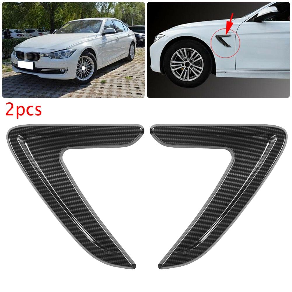2Pcs רכב צד האוויר Vent כיסוי לקצץ פגוש מדבקה עבור BMW 3 סדרת F30 2012 2013 2014 2015 2016 פחמן סיבי ABS רכב מדבקות