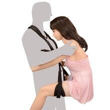 Huśtawka erotyczna zabawki erotyczne dla par bandaż BDSM ramię huśtawka erotyczna noga rozrzutnik dorosłych wiążące pasek SM niewolnik uprząż dorosłych gra erotyczna