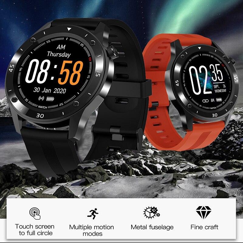 Reloj inteligente F22 de 1,54 pulgadas, reloj con pantalla completamente táctil, dispositivo portátil, Monitor de ritmo cardíaco, reloj inteligente para Android IOS