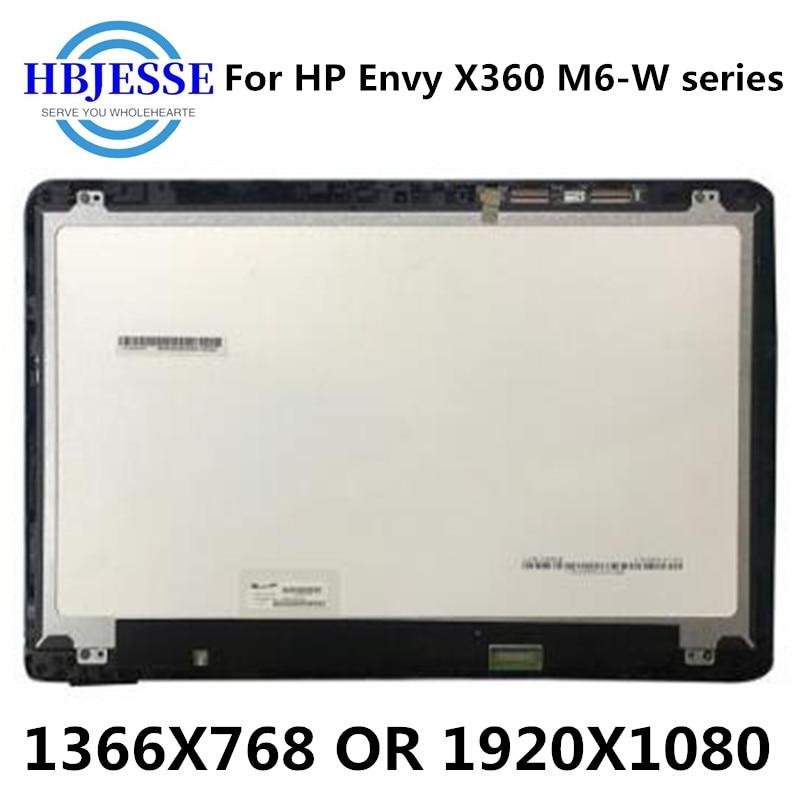 15.6 ''LCD عرض الجمعية + محول الأرقام بشاشة تعمل بلمس مع الإطار ل HP الحسد X360 M6-W M6-W103DX M6-W105DX M6-W010dx M6-W011dx