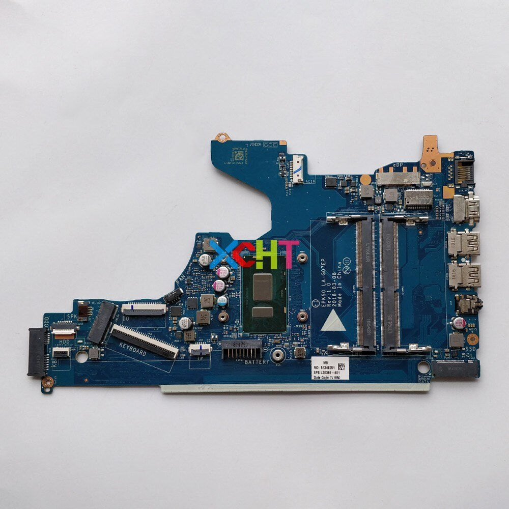 L20369-601 L20369-001 EPK50 LA-G07EP UMA ث SR3LA i5-8250U وحدة المعالجة المركزية ل HP 15-DA سلسلة محمول دفتر اللوحة الأم اختبارها