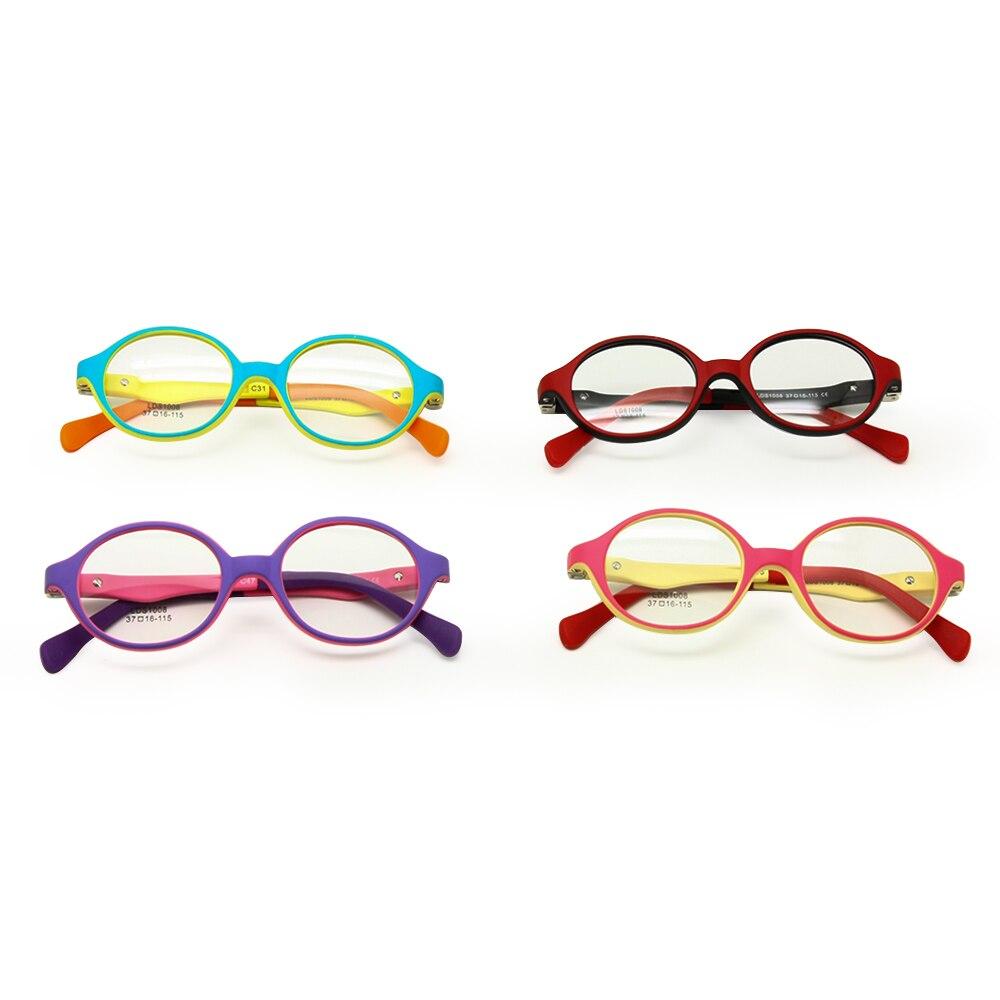 Оправа для очков TR90 для детей ясельного возраста, безопасный сгибаемый гибкий оптический оправа для детей, прозрачные линзы, пружинный шарн...