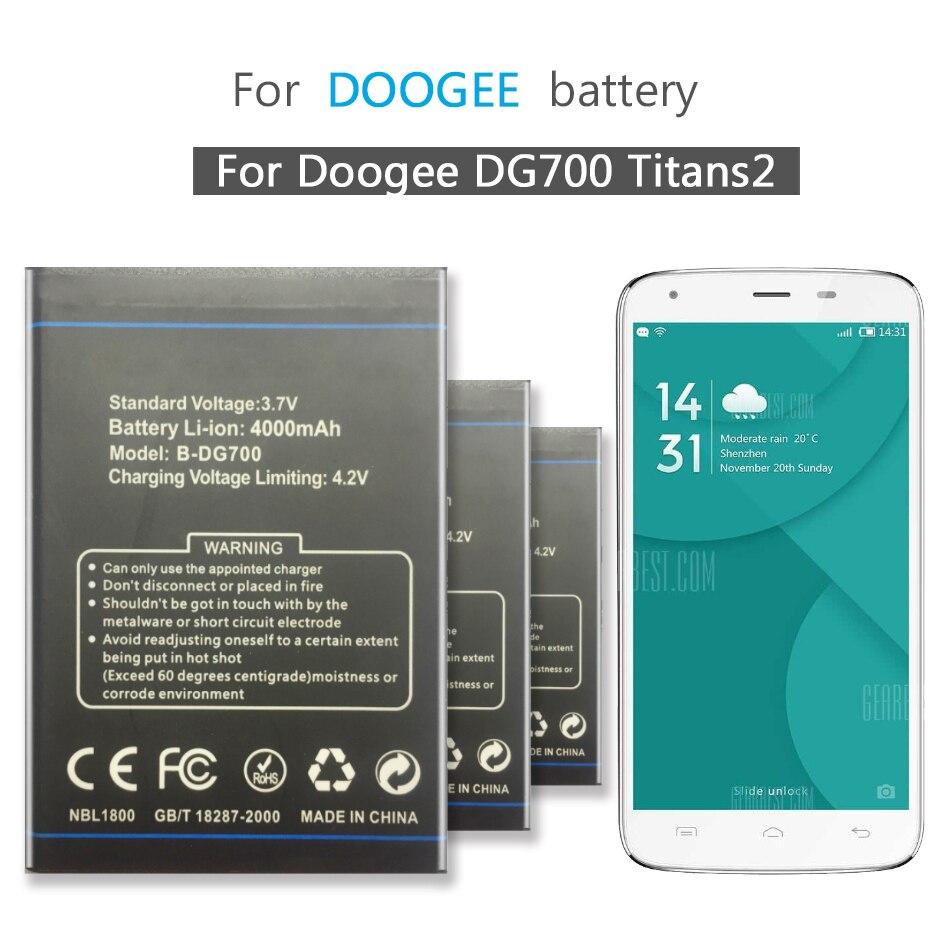 Mobile Phone Battery For Doogee DG700 Titans 2 B DG700 Battery 3600mAh B-DG700