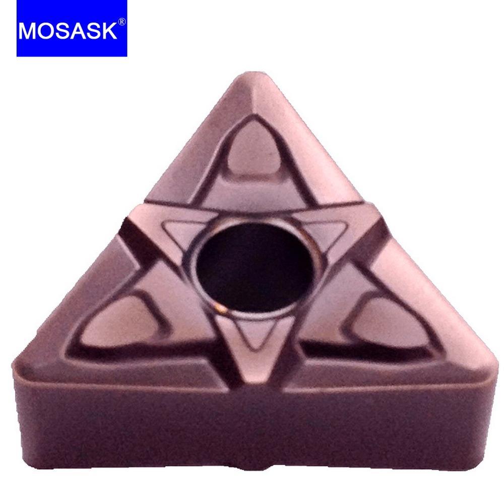 MOSASK 10 قطعة TNMG Blade 1604 08 MF ZP1521 آلة خرط تعمل بالتحكم الرقمي بواسطة الحاسوب معالجة القطع الفولاذ المقاوم للصدأ مثلث تحول كربيد