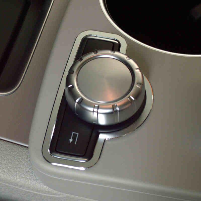 Mando Multimedia para consola central, marco decorativo, diseño de coche para Mercedes Benz GLK X204 Clase E W212, aleación de aluminio