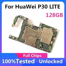 Offizielle version Für HuaWei P30 LITE Motherboard Original Unlokced 128GB Logic Board Mit Full Chips Mainboard Mit Android