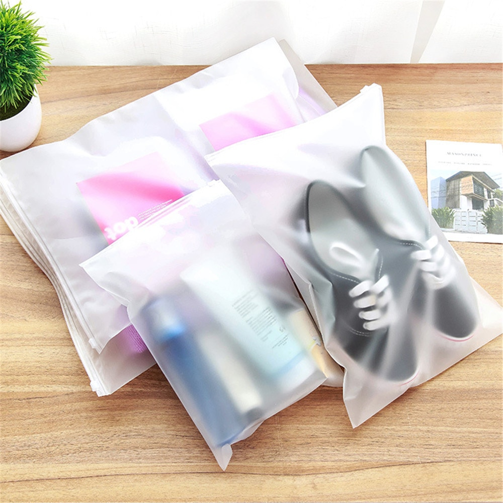 Bolsa de almacenamiento pvc para viaje bolsa de equipaje bolsa de zapatos a prueba de agua para tela transparente Zip Lock estuche organizador de almacenamiento