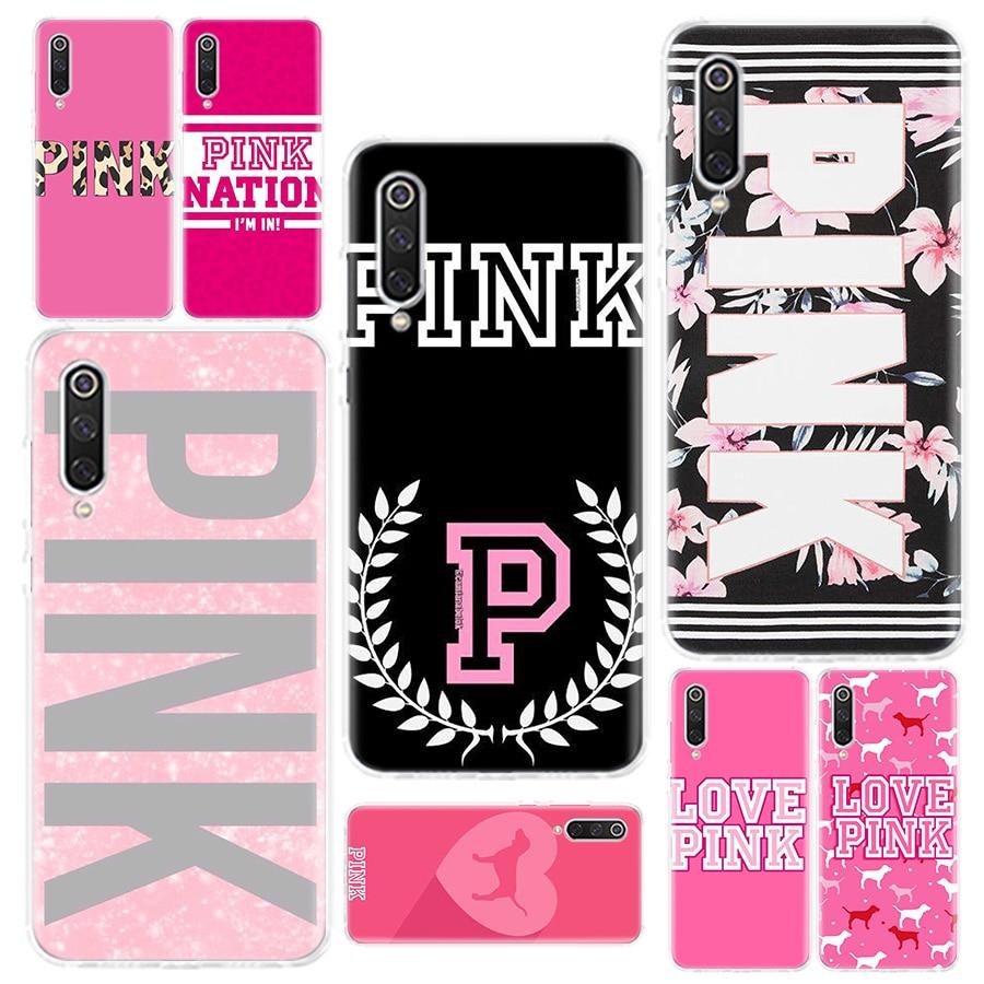 Victoriaes Pinks Secret Fashion luxury Phone Case For Xiaomi 5X A1 6X A2 A2Lite CC9 A3 CC9E 8 8Lite 9 9 SE 9T Pocophone F1 Phone