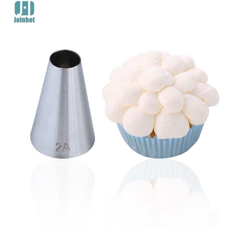 # 2A, 1 pieza, herramientas de decoración de punta de pastelería, juego de utensilios para hornear, boquillas para glaseado de acero inoxidable para tarta de azúcar, Cupcake, boquillas para manga pastelera