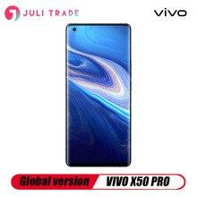 Version mondiale VIVO X50 PRO 5G smartphone Snapdragon 765G Google play Quad caméra