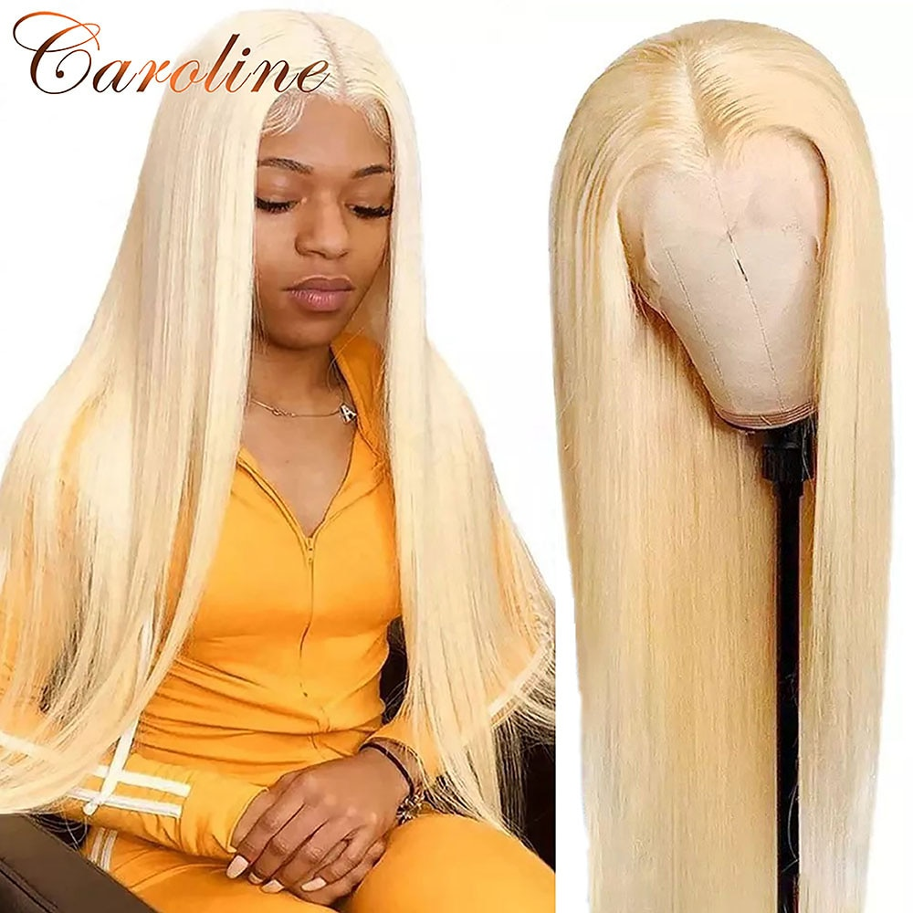 613 HD Lace Front Wig 13x6 Honey Blonde Straight Human Hair Wigs 28 30 Inch Remy HD Transparent Lace Frontal Wig with Baby Hair