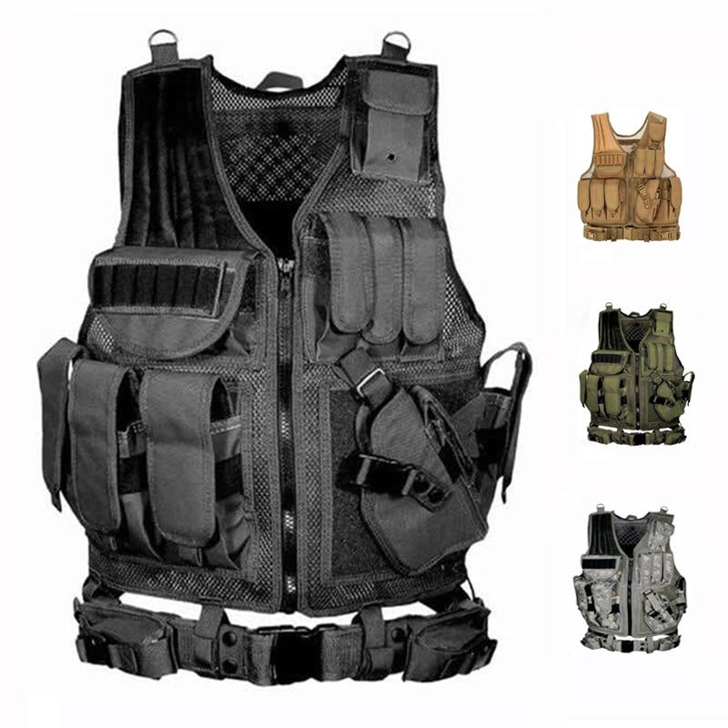 Colete tático equipamento militar airsoft caça colete de treinamento paintball airsoft combate colete protetor para cs wargame 4 cores