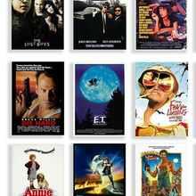 42 вида на выбор, Шелковый постер для украшения стен в классическом фильме, пленочная печать, для вашего дома, 24x36 дюймов