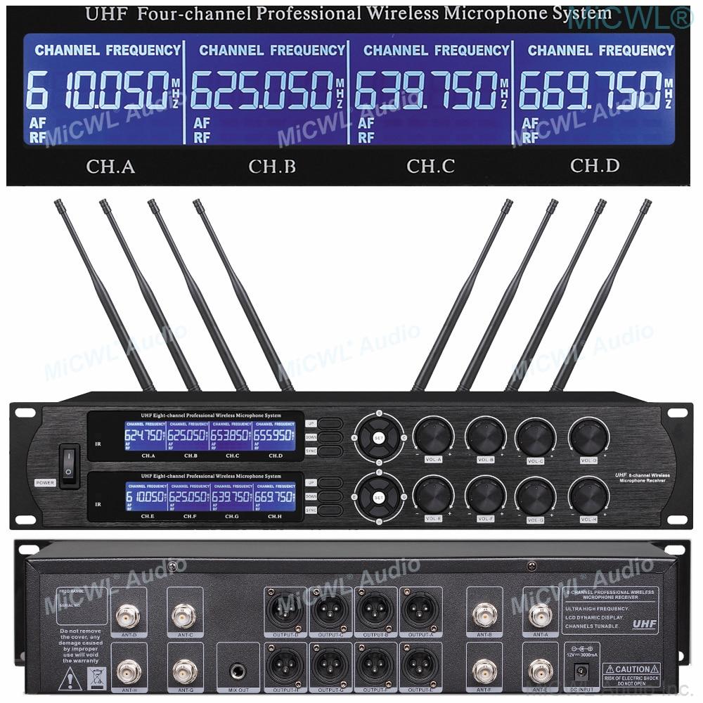 MiCWL U8800 UHF 8 Table Wireless Gooseneck Microphone Company Press Conference Room Mics