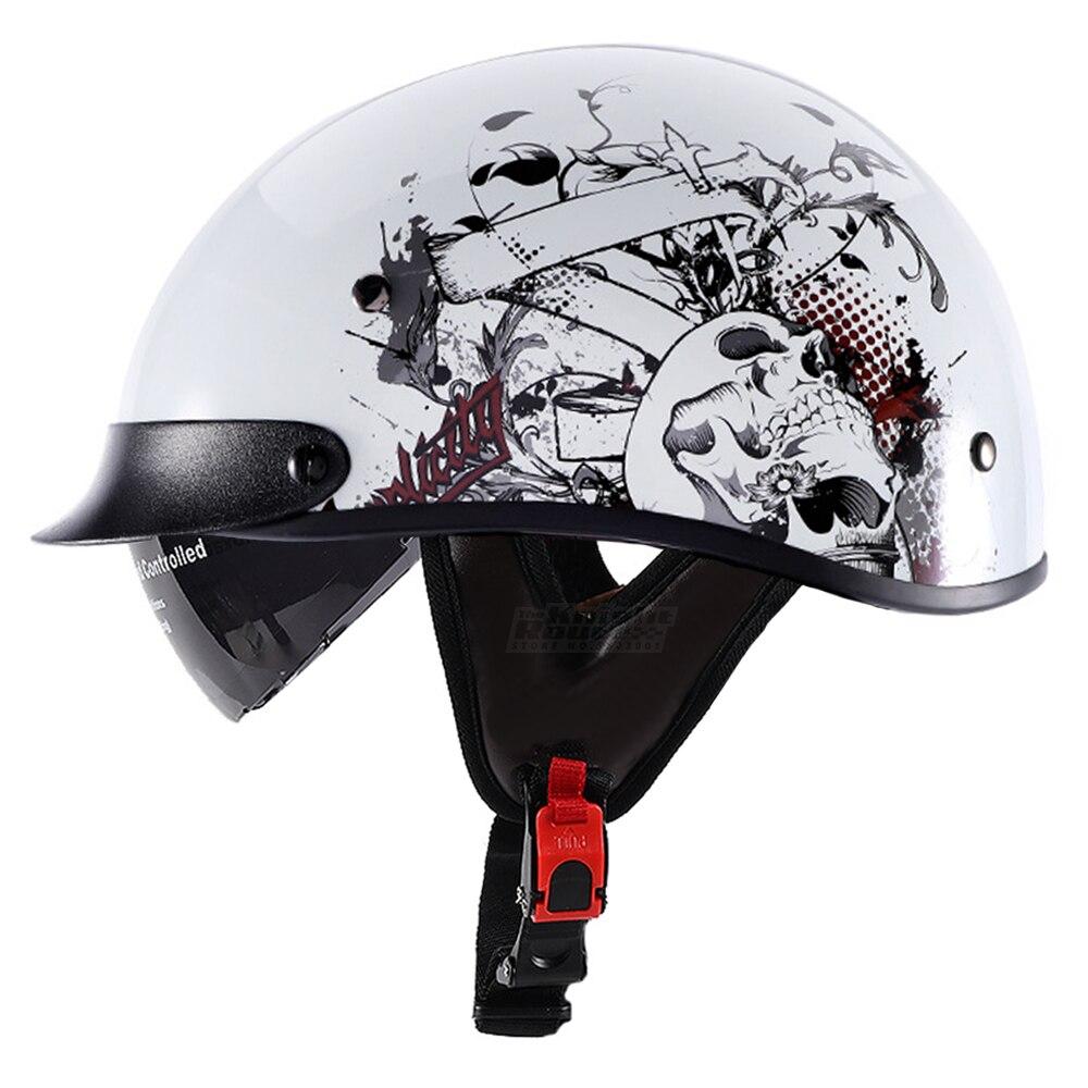 Motorcycle Helmet Moto German Motorcycle Open Face Retro Half Helmet Motorbiker Rinding Vintage Casco Chopper Biker Size M-XXL new german motorcycle wwii style half helmet chopper biker pilot goggles open face moto motocicleta with free goggle and mask