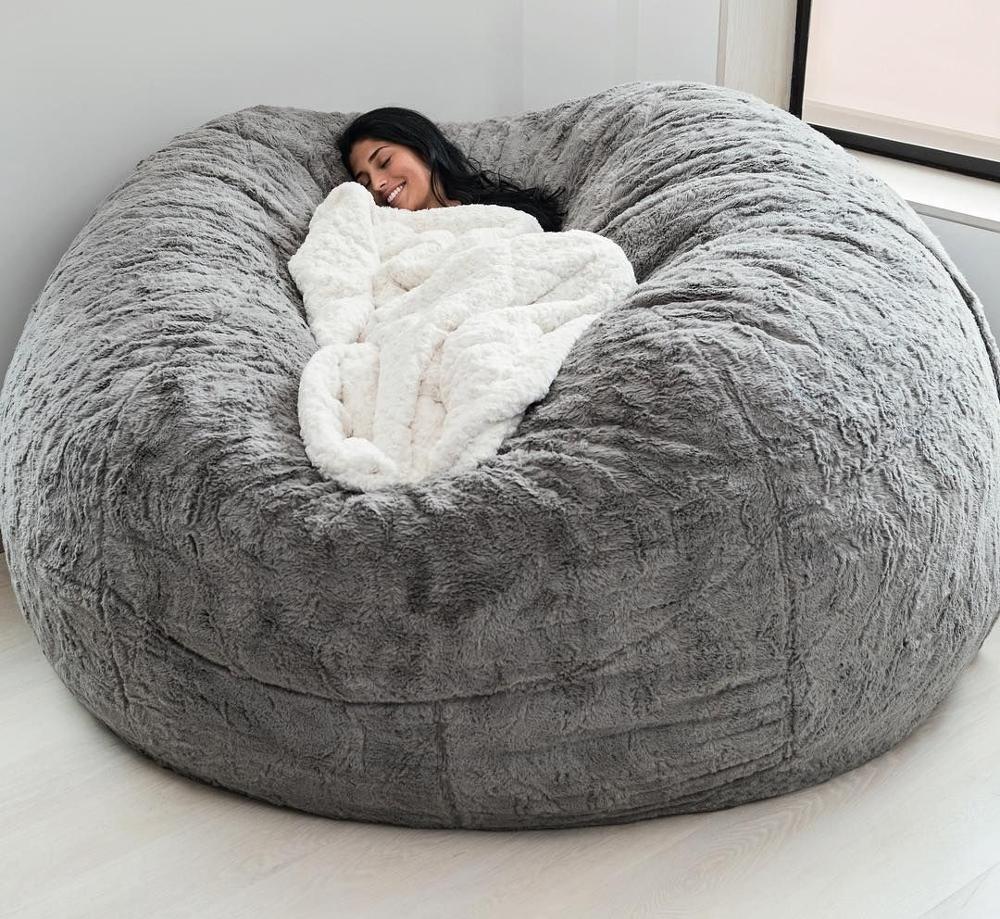 PV меховой мешок, диваны, диван из искусственного меха, диван-кровать для гостиной, мешок для взрослых
