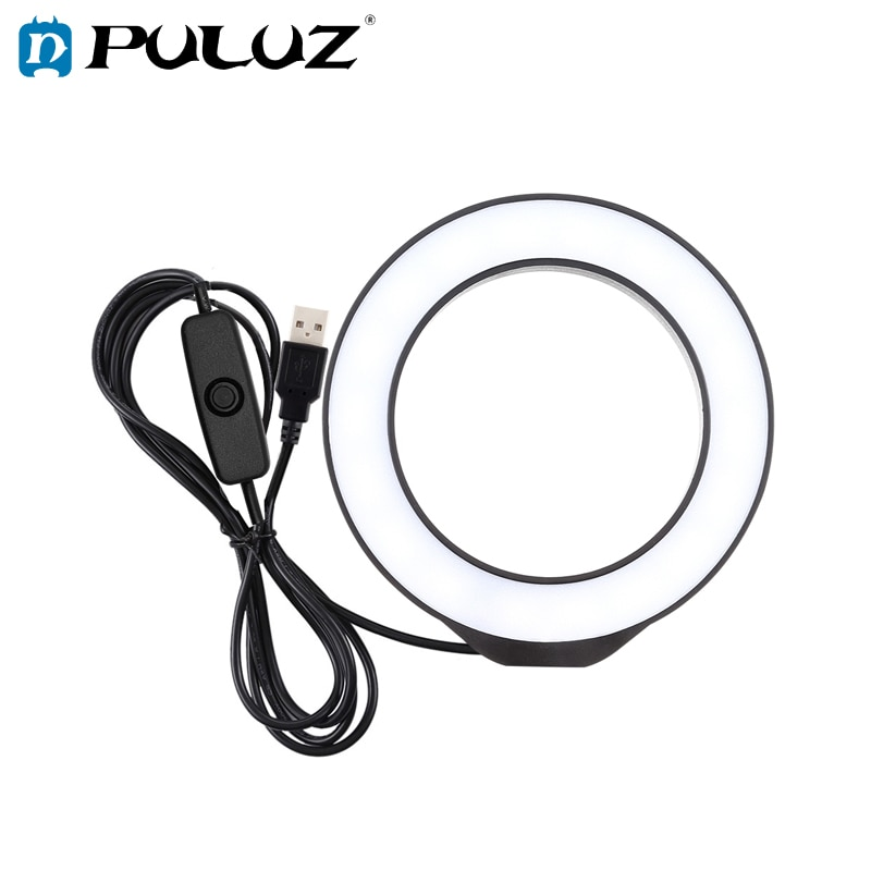 2021 Brand New PULUZ-4.7 Inch Cute Pink LED Ring Light for Photography, for Tik Toke / YouTube / Makeup, Video Recording