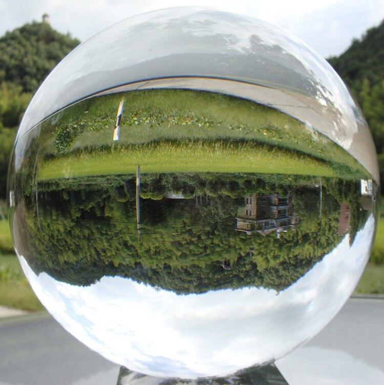 Bola de Cristal Grande Transparente Sorte Arco-íris Foto Decoração Presente Brinquedos 100mm