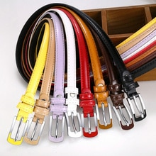 Cinturones de cuero PU para mujer, cinturilla fina y ajustada, cinturón ajustable de cuero, dulzura, para vestido