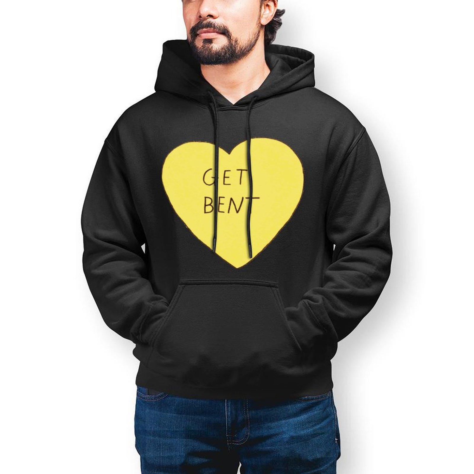 Толстовка с капюшоном в виде сердца, стильные уличные теплые толстовки, длинная мужская модель X