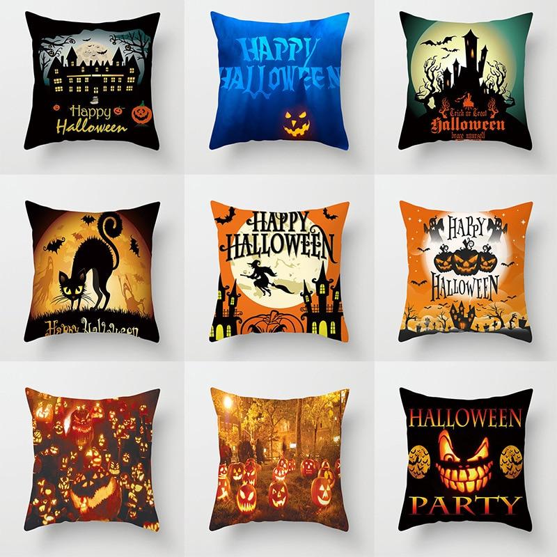 Чехол для подушки на Хэллоуин, свадебные принадлежности, чехол для диванной подушки, чехол для подушки, милый чехол для автомобильной подуш...