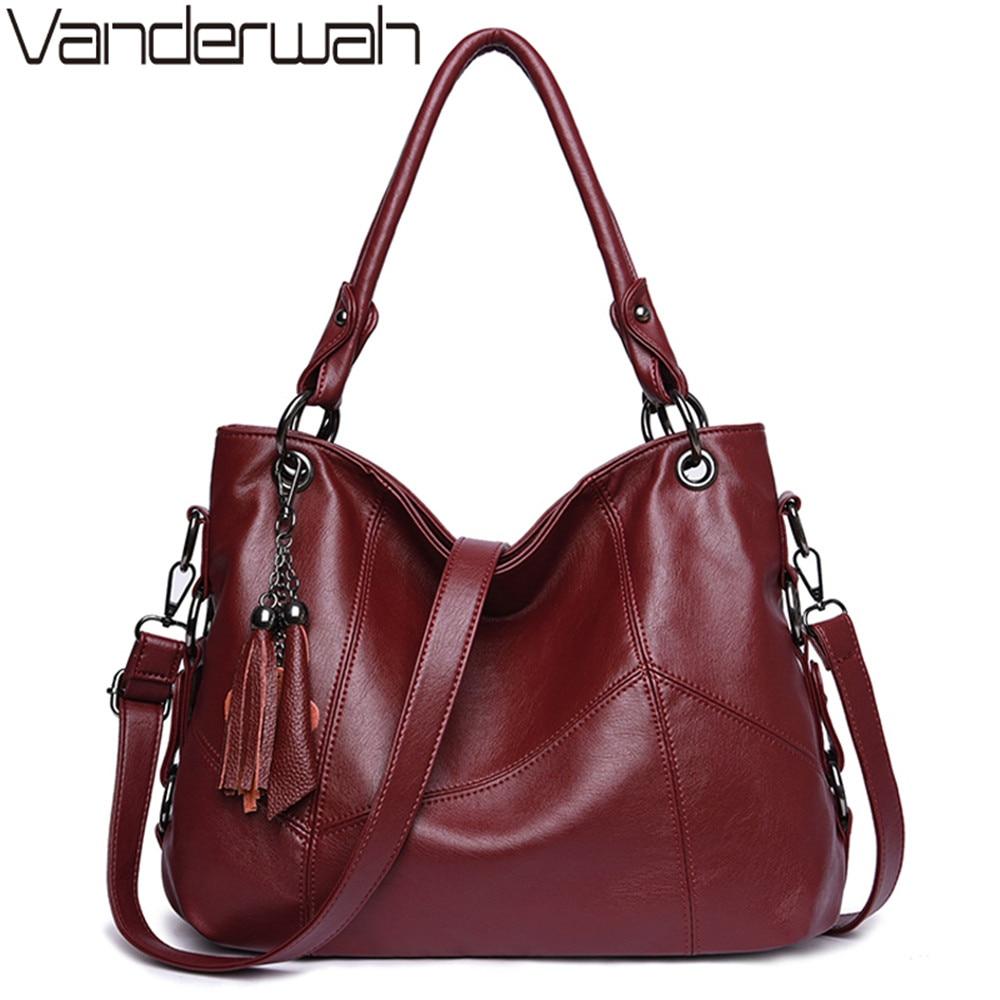 Soft Leather Tassel Luxury Handbags Women Bags Designer Handbags High Quality Ladies Crossbody Hand Tote Bags For Women 2020