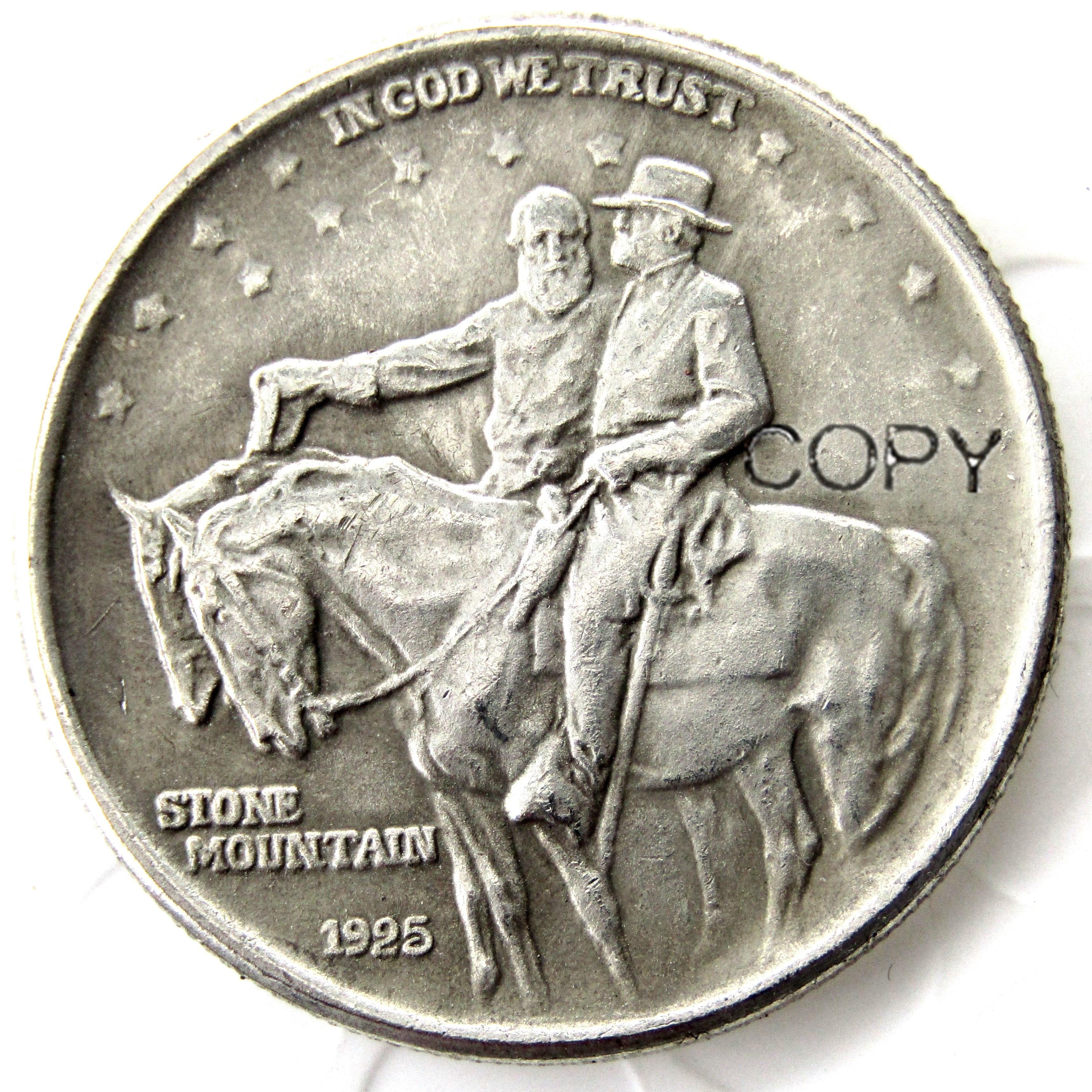 США 1925 Камень Горный, наполовину копия доллара, монет с серебряным покрытием