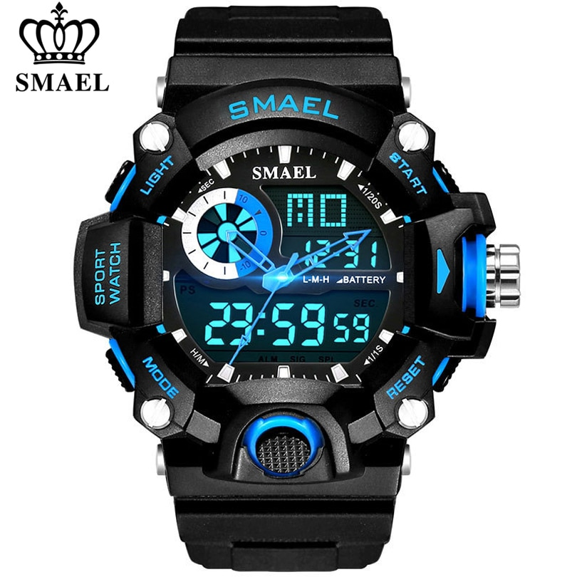 ohsen brand mens boys digital sports watches waterproof rubber band wristwatch led colorful backlight red army kids watch gift SMAEL Watches Men Military Army Watch Led Digital Mens Sports Wristwatch Male Gift Analog Shock Watch Relogio Masculino Reloj